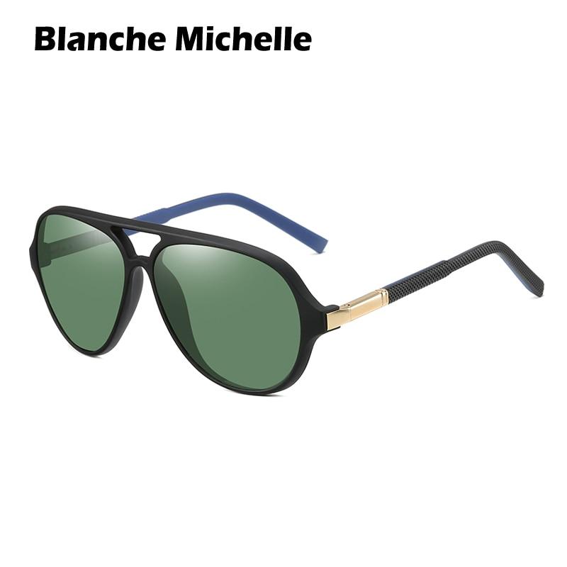 High Quality Pilot Polarized Sunglasses Men UV400 TR90 Sun Glasses Mens Driving Sunglass Vintage oculos masculino 2020 With Box