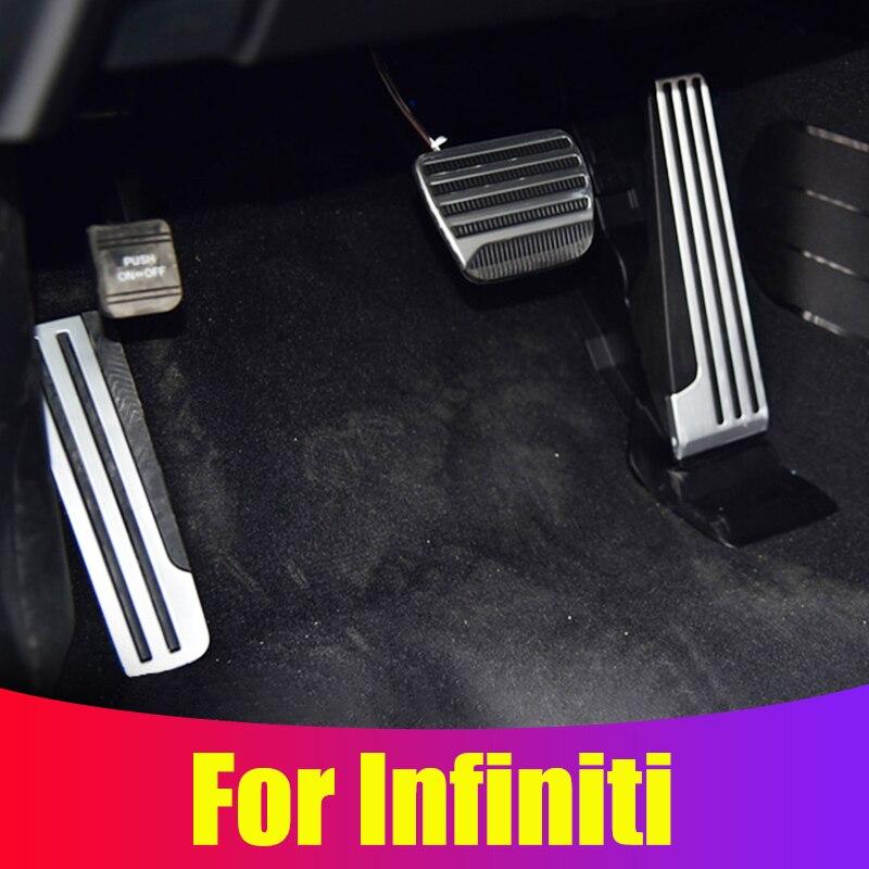 3Pcs Sport Foot Rest Brake Accelerator Pedal Parts Fit For Infiniti G25 G35 G37