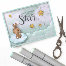 JCarter Clear Stamps Scrapbooking Lucky Star Rubber Double Stamp Silicone Seals Craft Stencil Album Card Make Decoration Sheet серьги other lucky brand stamp 10