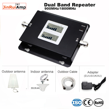 LCD Display GSM 900 4G LTE 1800 Repeater GSM amplifier 900 1800 mhz Mobile Phone Signal Booster 70dB Dual Band Repetidor Celular