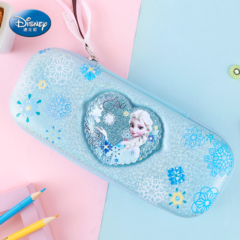 Frozen Stationery Cute Pencil Bag Sophia School Supplies Disney Children Pen Box
