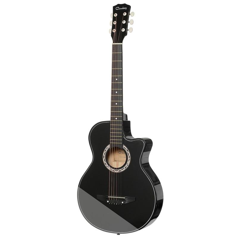 Guitar Acoustic Guitar COWBOY 38C BK hot 5x sound hole pickup for acoustic guitar with tone volume control