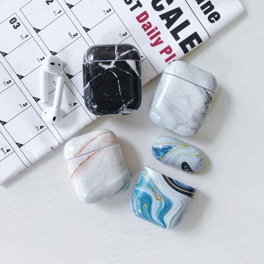 For Airpods Case For IPhone Wireless Bluetooth Headset Set Charging Box Marble Headphone Cover For Airpods Case TPU Cover
