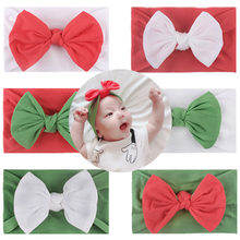 2019 Baby Boy Girl Christmas Bowknot Headband Headwear Accessories Children's baby Christmas bow hair accessories hair band(China)