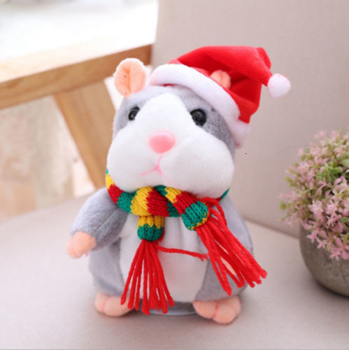 Chirstmas Talking Hamster Mouse Pet Plush Toy Hot Cute Speak Talking Sound Record Hamster Educational Toy For Children Gifts
