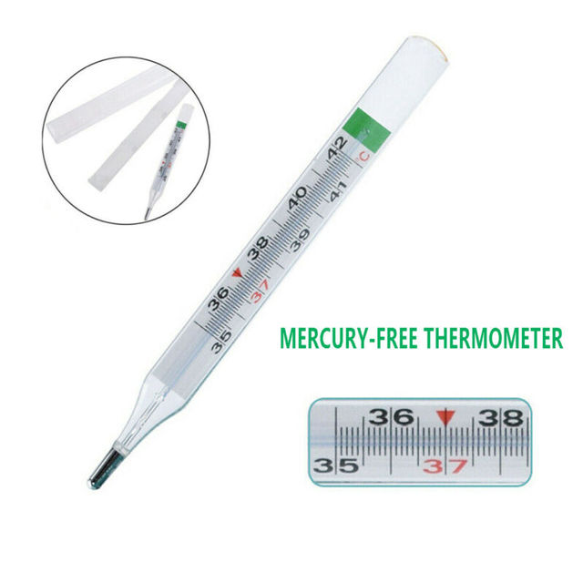 Geratherm Classic Dual Scale Traditional Clinical Glass Mercury-Free Thermometer