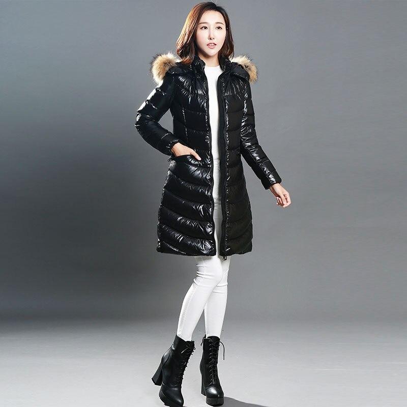 Coat Down Winter Puffer Jacket Women Long White Duck Down Jacket Women Hooded Down Coat Veste Femme YY1372