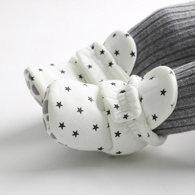 BOBORA Star Print Newborn Baby Socks Shoes Boy Girl Toddler First Walkers Booties Cotton Soft Anti-slip Warm Infant Crib Shoes