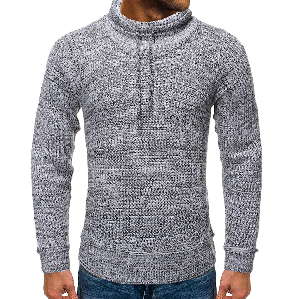 Men's Autumn Winter Fashion Casual Slim Pure Color O-Neck Long Sleeve Knitted Sweater Tops Wholesale Free Ship Z4