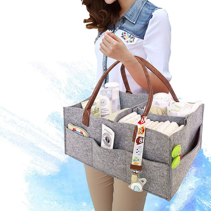 Baby Diaper Bag Nappy Changing Bag Portable Non-woven Fabric Strollers Wheelchair Pram Organizer Storage Bag Mummy Maternity Bag