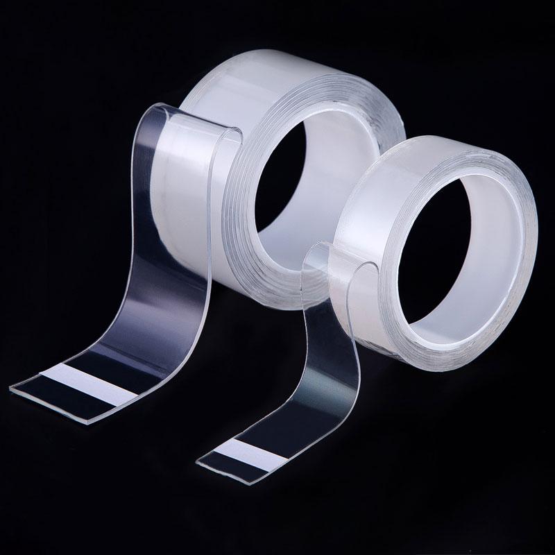 New Hot Magic Nano-tape Traceless Double-Sided Transparent Tape Adhesive Nano Stick Removable Washable Reusable Tapes Universal