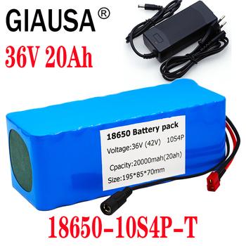 GIAUSA 36V 20AH 14ah 8Ah bateria do rowerów elektrycznych wbudowana bateria litowa 20A BMS z akumulatorem Ebike 42V 2A tanie i dobre opinie 10-20ah 36 v