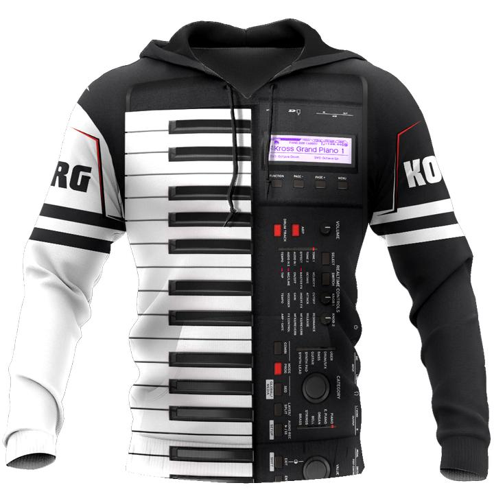 PLstar Cosmos Piano 3D Hoodies/sweatshirts Men Women Hooded winter Autumn Long streetwear Pullover Musical instrument Style-2