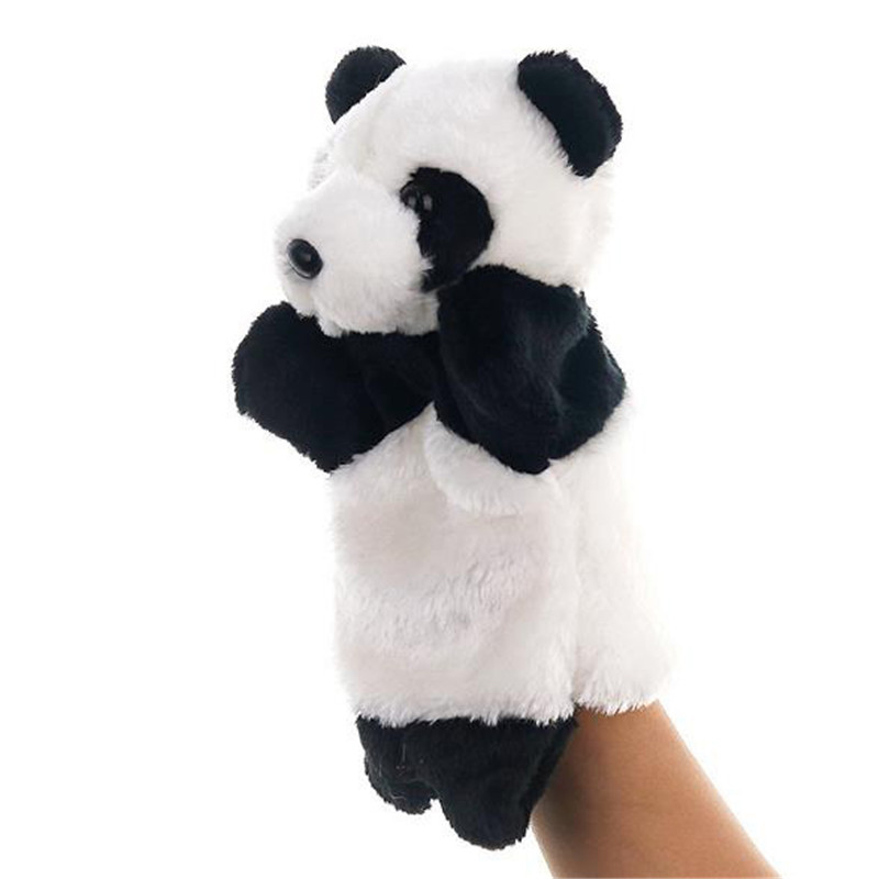 Hot Sale Lovely Animals Kids Soft Comfortable Plush Doll Hand Puppets Animals Shape Playing Dolls Toys Learning Education Toy