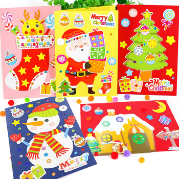 Nowe świąteczne rzemiosło dekoracyjne karty przedszkole wiele sztuka i rękodzieło diy zabawki Puzzle rzemiosło dla dzieci zabawki dla dzieci dziewczyna chłopiec prezent tanie i dobre opinie Bright shell 5 ~ 7 Lat 8 ~ 13 Lat 14 Lat i up Zwierzęta i Natura 18924 Chiny certyfikat (3C) keep away from fire Rainbow papieru