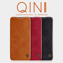 Voor Oneplus 7T Pro Oneplus 8T Case Oneplus Nord Nillkin Smart Wake Up Qin Wallet Flip Leather Case voor Oneplus 8 Pro/7 Pro Case
