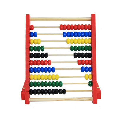 Kids Baby Wooden Abacus Toys Small Calculator Handcrafted Educational Children's Calculating Beads Early Learning
