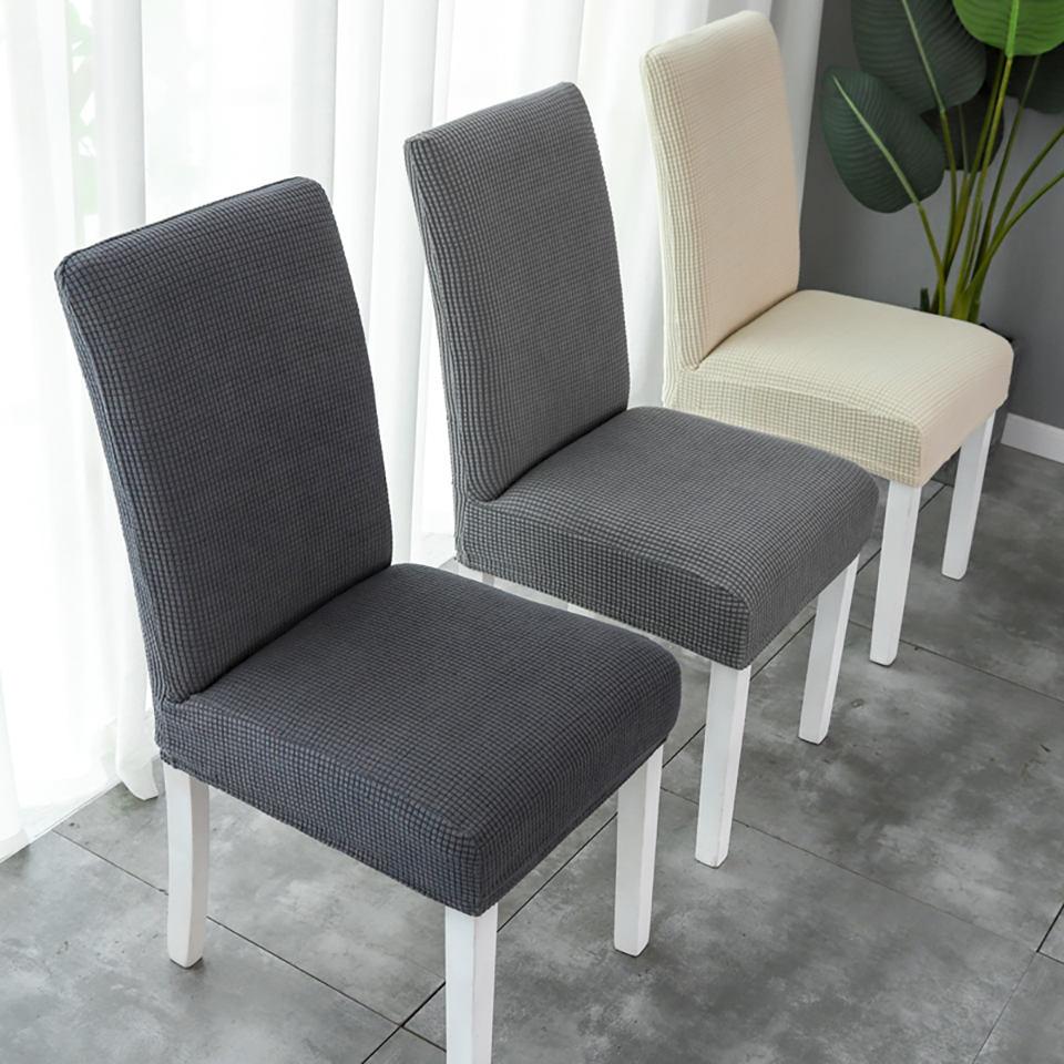 >Super Soft Polar Fleece Fabric Chair Cover Large/<font><b>Medium</b></font>/Small <font><b>Size</b></font> Chair Cover Elastic Chair Covers Spandex For <font><b>Kitchen</b></font>/Wedding