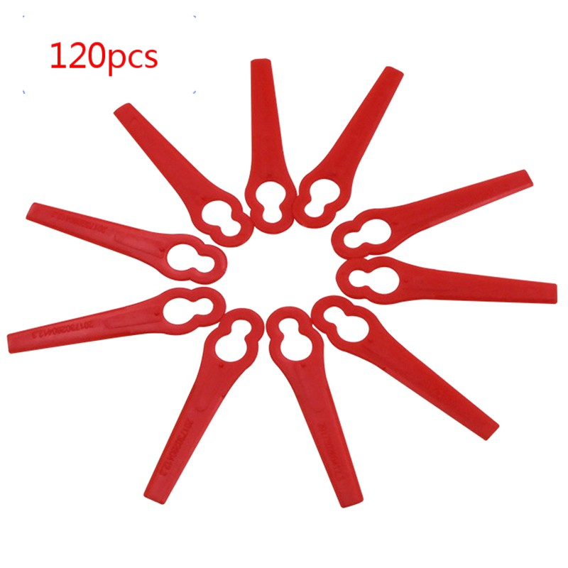 120Pcs for Florabest LIDL FRTA 20 A1 Lidl IAN 282232 Replacement Plastic Cutter Blades for Florabest Grass Trimmer Brushcutter