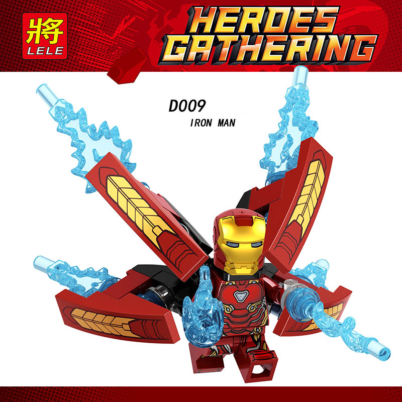 Single Sale LegoINGlys Building Blocks Super Heroes Iron Man Avengers Endgame Infinity War Figures Model Toys Boys Gifts D009