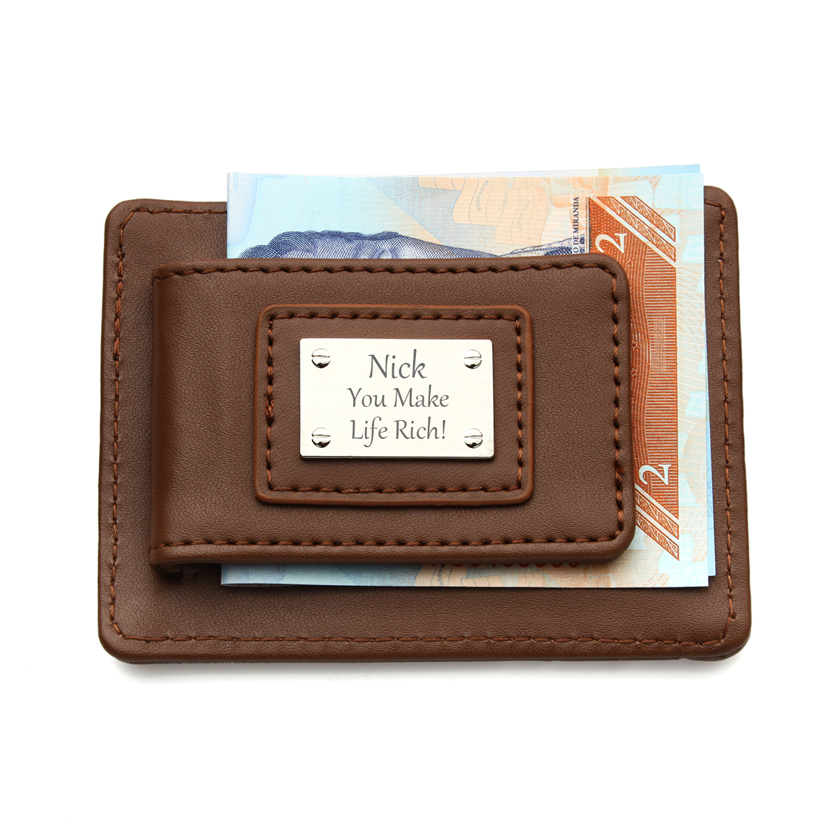 Personalized Groomsmen Gift Leather Money Clip Wallet For Men Valentines Fathers Day Gifts Custom Birthday Favor For Boyfriend