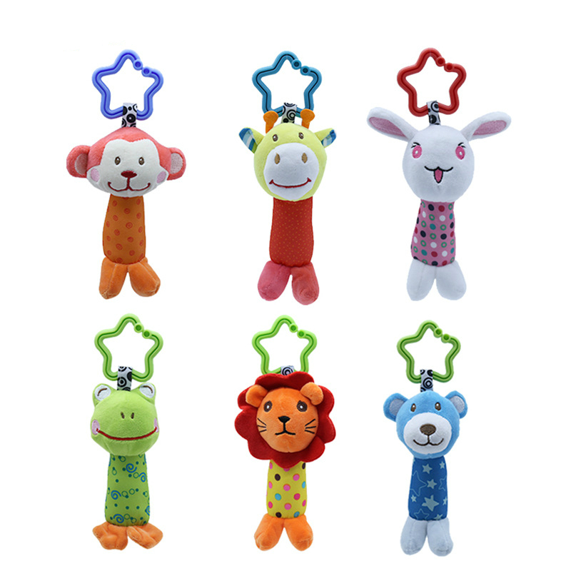 Baby Infant Plush Bell Cloth Ball Baby Newborns Hand Grab Soft Rattle Toy HO3