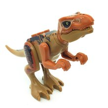 Мальчик подарки мультфильм творческий динозавр строительный блок игрушка Юрского периода модель динозавра моделирование игрушка-тираннозавр модель