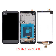 100% Tested high quality For LG X Screen  K500 K500DS K500N LCD Display Touch Screen Digitizer  Assembly ,No/with Frame 100% tested high quality for lg q8 h970 v20 mini 5 2 lcd display touch screen digitizer assembly black with no frame