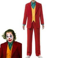 Halloween Joker Cosplay Costume Clown Halloween Costume Joker Men Movie Uniform Clown Business Suit
