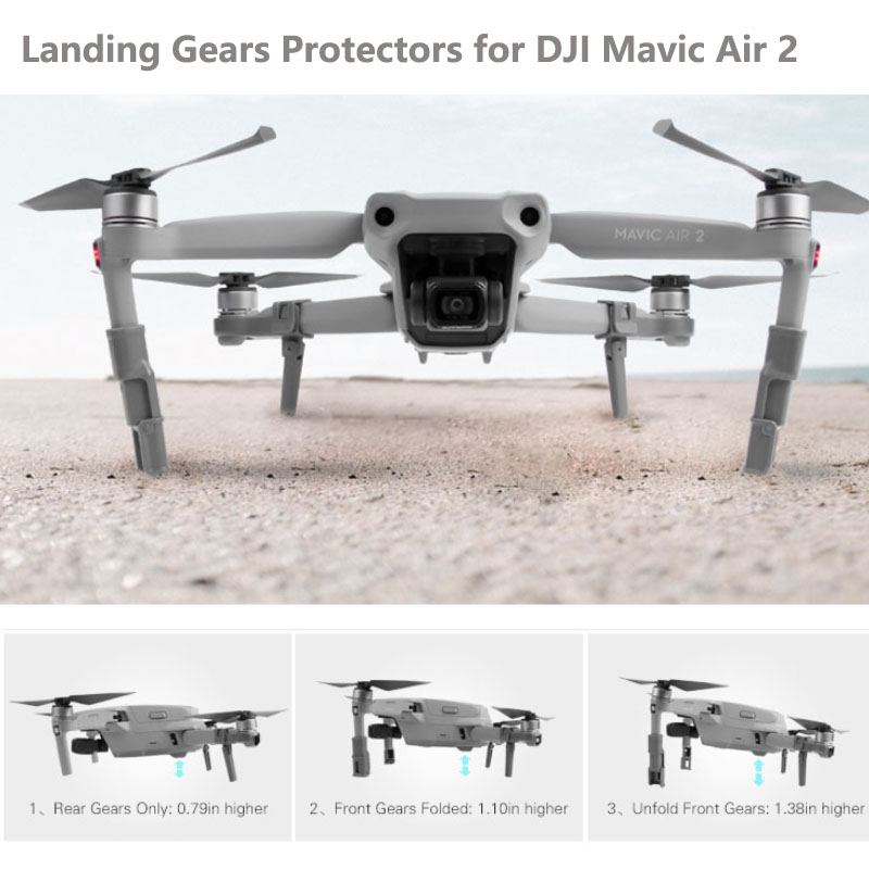 Drone  Support Leg Heightening Landing Gears Protectors for DJI Mavic Air 2 Accessories