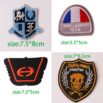 Fashion Knight medal Shield totem icon Embroidered Applique Patches for Clothing DIY Iron on Badge on the Backpack image