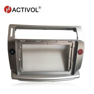 Image 1 - HACTIVOL 2 Din Car Radio face plate Frame for Citroen C Quatre 2004 2009 Car DVD GPS player panel dash mount kit car accessories