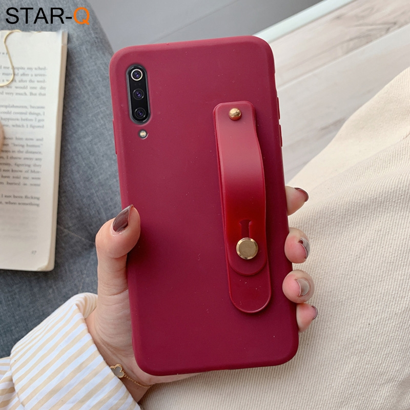 wriststrap phone holder silicone case for xiaomi mi 9 lite se xiomi mi9 8 lite 9t pro a3 a2 a1 5x 6x f1 mix 2s 3 soft back cover(China)