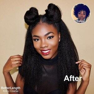 Image 5 - Perwersyjne pasma prostych włosów z zamknięciem brazylijskie włosy wyplata zestawy gruba Yaki Natural Color 100% doczepy z ludzkich włosów Remy