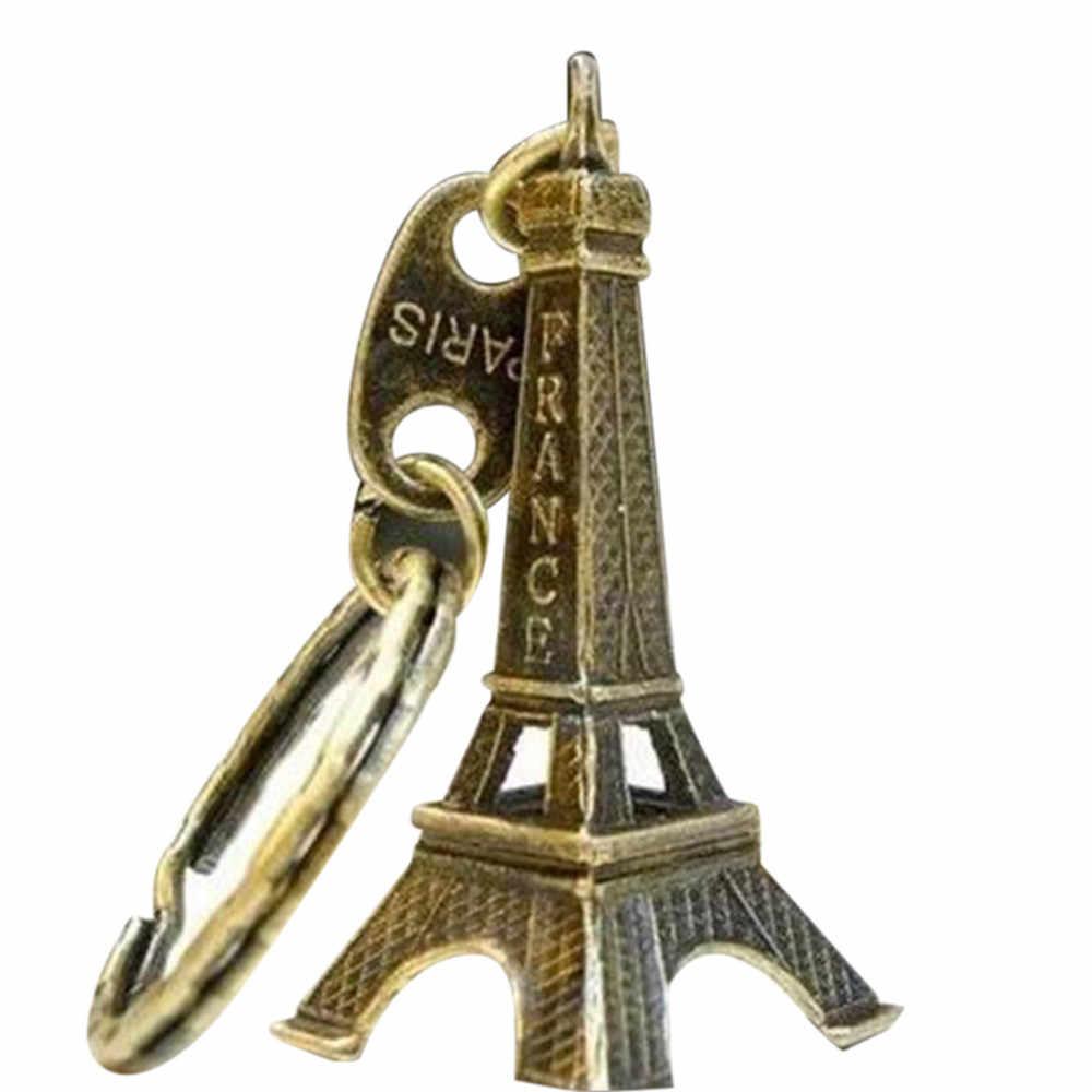 Retro Mini dekorasyon Torre eyfel kulesi anahtarlık Paris turu eyfel anahtarlık anahtarlık anahtarlık kadın çanta uğuru kolye hediye