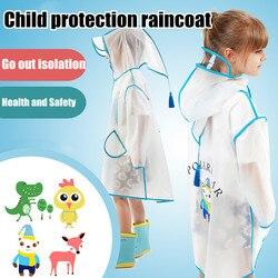 Crianças capa de chuva claro capa de chuva casaco de chuva para meninas do bebê crianças material durável perfeito design impermeável capa de chuva