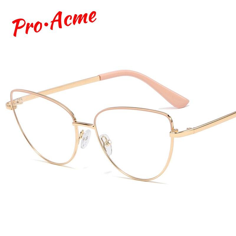 Pro Acme High Quality Metal Frame Cat Eye Glasses Frames Women Retro Optical Computer Glasses Prescription Eyeglasses PC1318