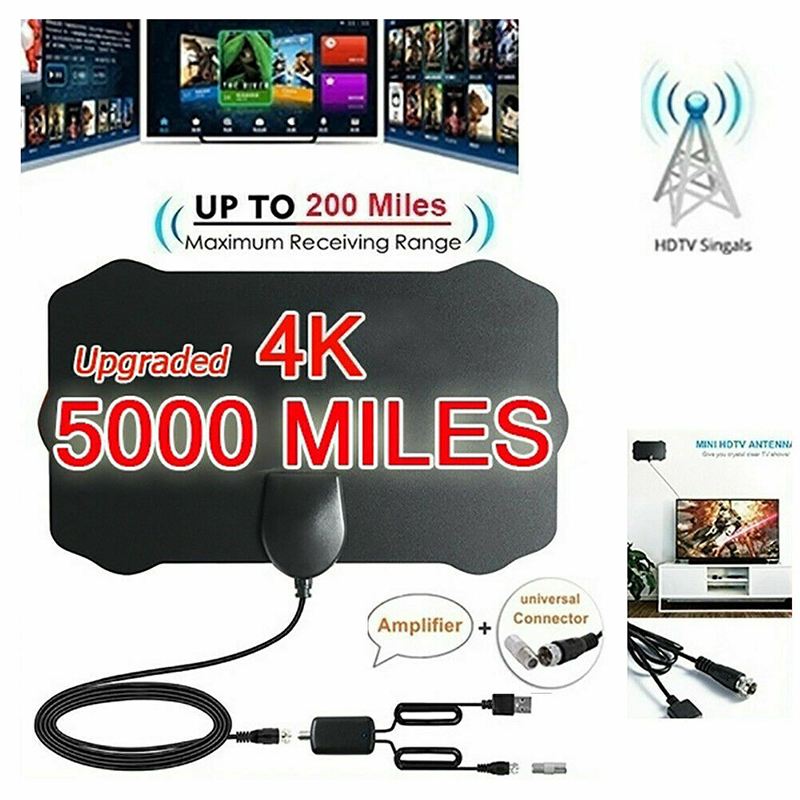5000 миль дальность HD ТВ антенна 4K HD комнатный цифровой ТВ антенна усилитель сигнала