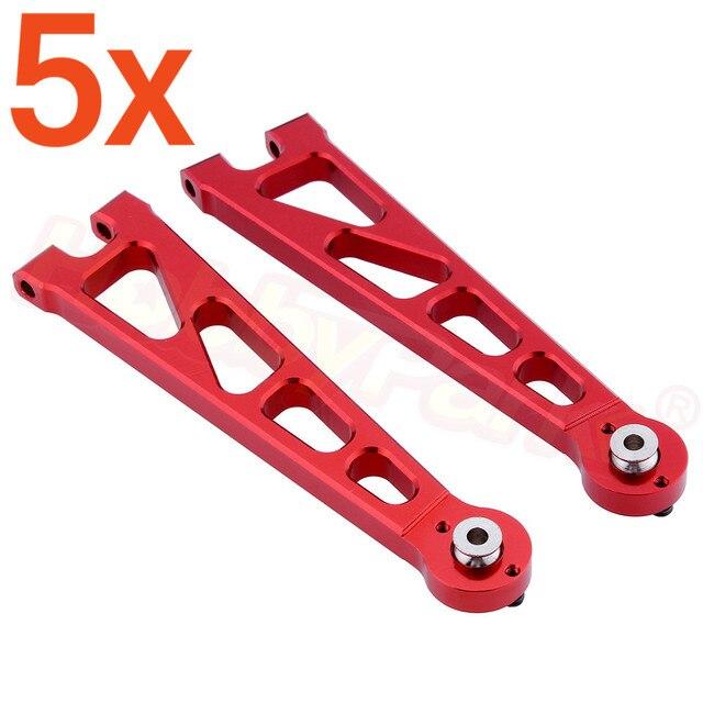 5 par/partia Alum przednie górne ramię Susp a-arms (L/R) dla 110 elektryczne Himoto E10XT E10XTL E10MT E10MTL części zamienne 33601G 31602