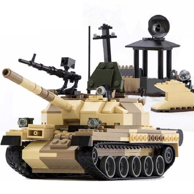 New Military Legoes Building Blocks War Weapon Armed T-62 Tanks Model Bricks Blocks Toys for Children Christmas Gifts