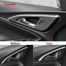 Tonlinker פנים ידית דלת כיסוי מקרה מדבקת עבור שברולט מאליבו 2017 19 רכב סטיילינג 4 PCS ABS פחמן כיסוי מדבקה