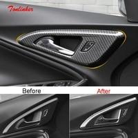 Tonlinker Interieur Deurklink Cover Case Sticker Voor Chevrolet Malibu 2017-19 Auto Styling 4 Pcs Abs Carbon Cover sticker