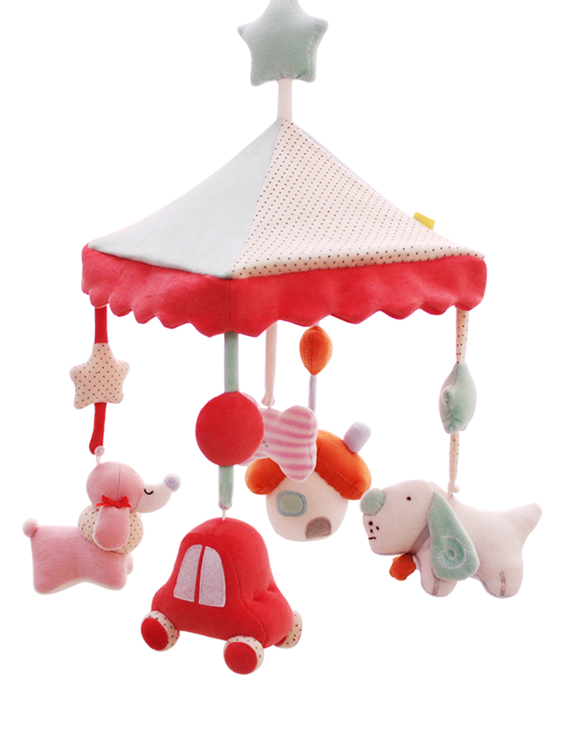 Baby Bed Bell Infant Toys With Music Plastic Rattle 0-12 Months Stuffed Rabbit Toys For Babies In A Crib Musical Soft AA50YL