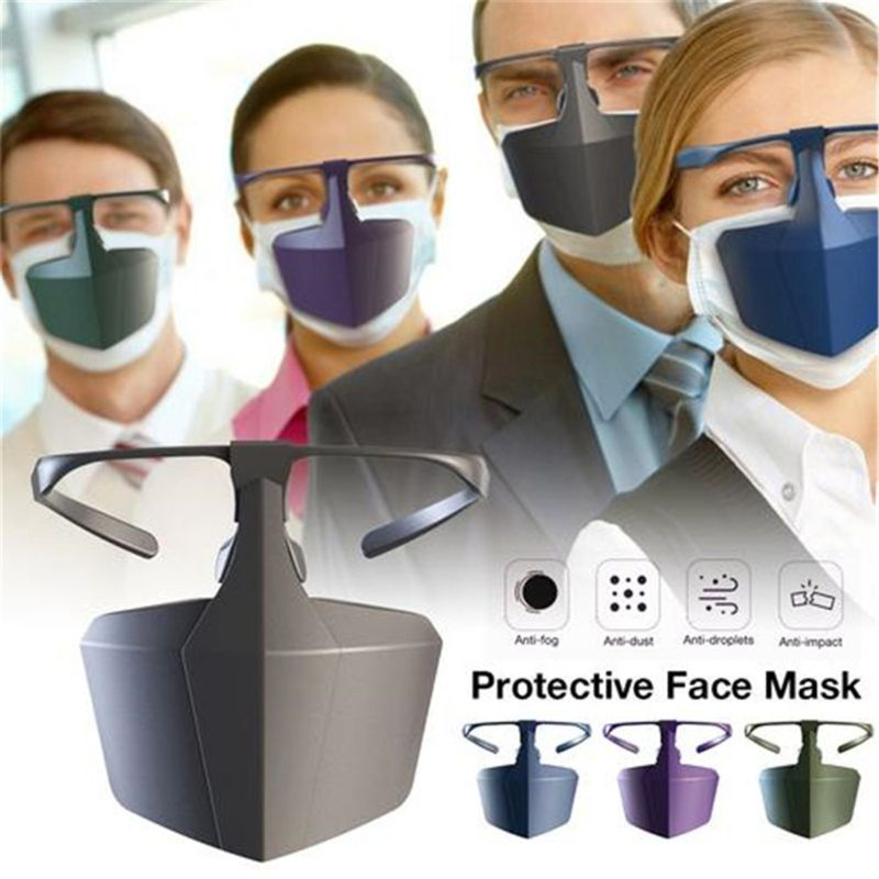 Hf4d7071417c448319936daa8b6a63e8d6 Face Mask Breathable Reusable Protective Cover Isolation Shield Plastic Protective Mask Against Droplets Anti-fog Isolation