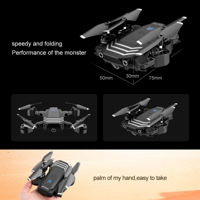 cheapest New LS11 Drone 4K HD Dual Lens Mini Drone 1080P Real-Time FPV Drone Height Keeps Professional Foldable RC Quadcopter
