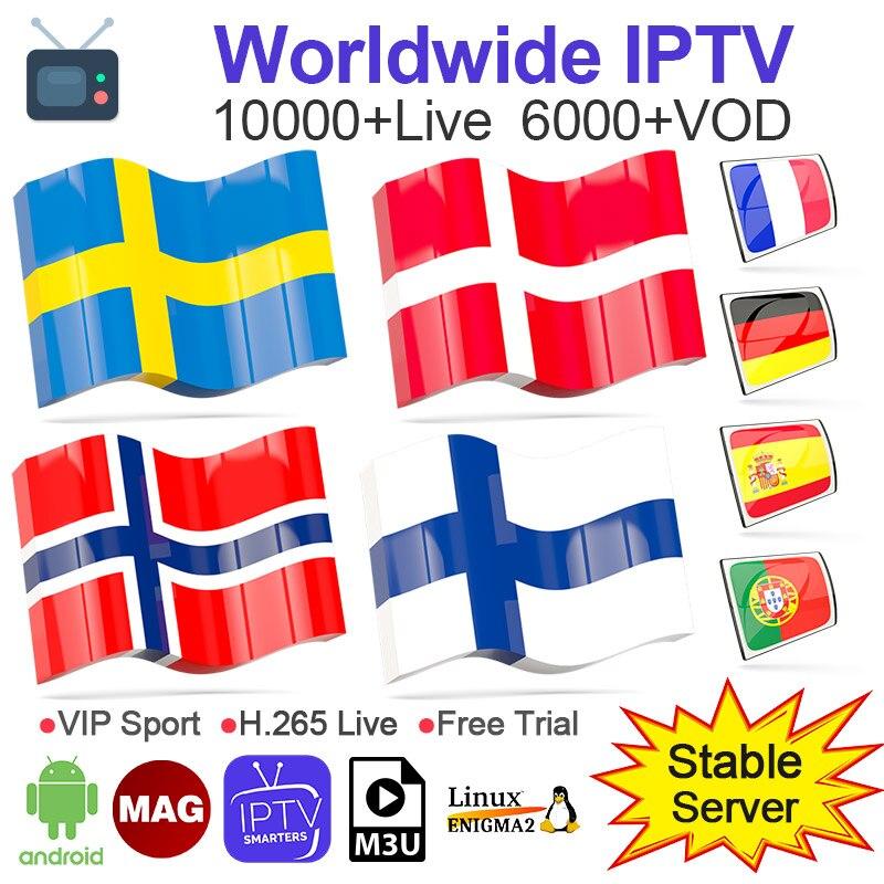 IPTV Subscription Fr Spain Albania IP TV Netherlands Switzerland IPTV Norway Denmark Sweden IPTV Android M3u Smart Code