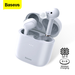 Baseus W06 Tws True Draadloze Hoofdtelefoon Bluetooth 5.0 Oortelefoon In Ear Bud Aptx Oordopjes Ruisonderdrukkende Headset Voor Iphone Xiaomi