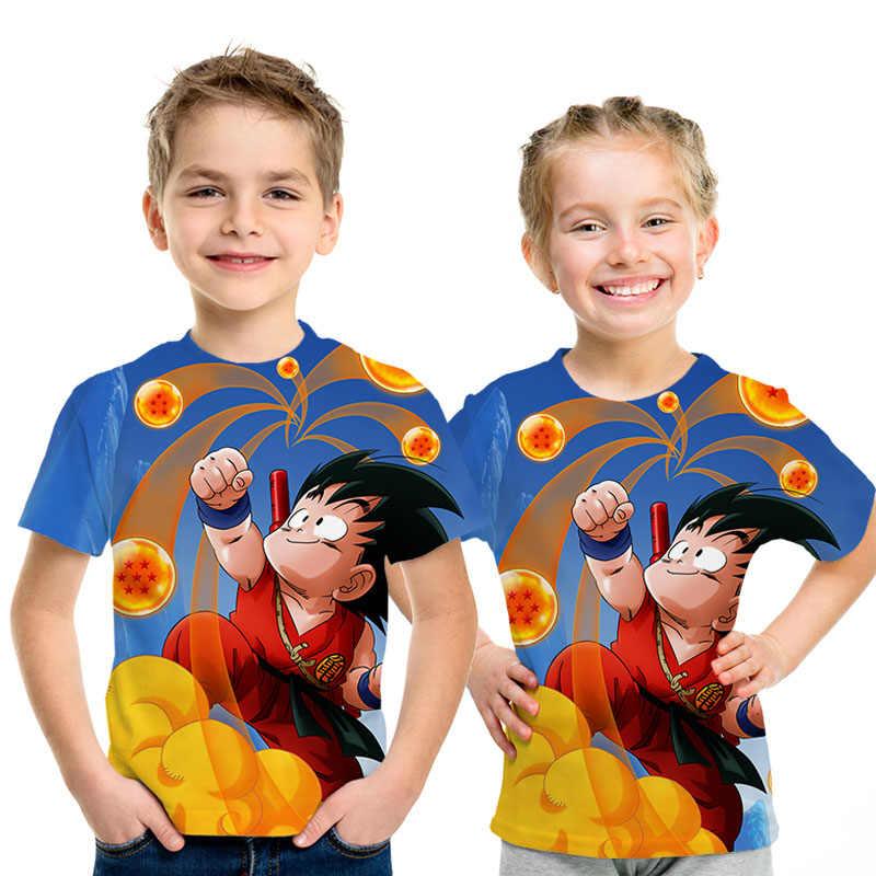 Nieuwe Jongen 3D T-shirt Dragon Ball Z Ultra Instinct Goku Super Saiyan God Blauw Vegeta Gedrukt Cartoon Zomer Korte Mouw t-Shirt