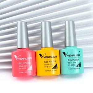 Image 5 - Venalisa KIT de Gel de Gel professionnel pour Nail Art, 60 couleurs, vernis de Base/dessus, acrylique, tenue longue durée, #61508