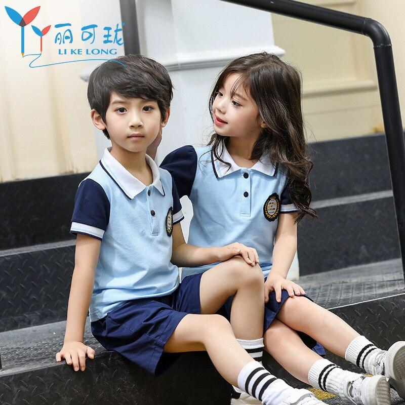 Young STUDENT'S School Uniform 2019 New Style Childrenswear England College Style Kindergarten Suit Summer Wear Children School